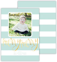 Dabney Lee Digital Holiday Photo Card - Cabana Sea with Foil (Flat)