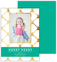 Dabney Lee Digital Holiday Photo Card - Little Trees Jewel with Foil (Flat)