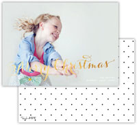Dabney Lee Digital Holiday Photo Card - Swiss Dot Black with Foil (Flat)