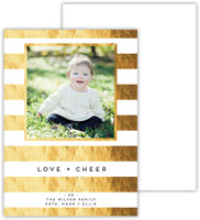 Dabney Lee Digital Holiday Photo Card - Cabana 2 with Foil (Flat)