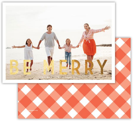 Dabney Lee Digital Holiday Photo Cards - Be Merry with Foil