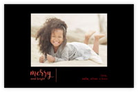 Dabney Lee Holiday Photo Mount Cards - Merry Line with Foil