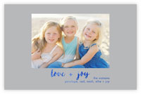 Dabney Lee Holiday Photo Mount Cards - Love + Joy with Foil
