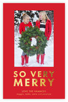Dabney Lee Holiday Photo Mount Cards - So Verry Merry with Foil