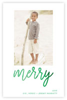 Dabney Lee Holiday Photo Mount Cards - Merry Script