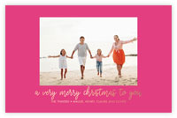 Dabney Lee Holiday Photo Mount Cards - Simple Merry with Foil