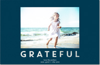 Dabney Lee Holiday Photo Mount Cards - Grateful with Foil