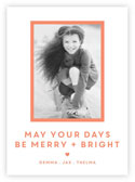 Letterpress Holiday Photo Mount Cards by Dabney Lee (Days Be Merry)