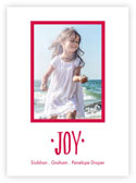 Letterpress Holiday Photo Mount Cards by Dabney Lee (Joy )