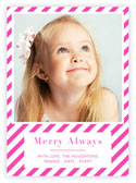 Letterpress Holiday Photo Mount Cards by Dabney Lee (Merry Always)