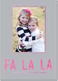 Dabney Lee Holiday Photo Mount Cards - Fa La La Foil