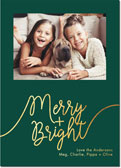 Dabney Lee Holiday Photo Mount Cards - Whimsical Merry Foil