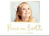 Dabney Lee Holiday Photo Mount Cards - Peace On Earth Foil