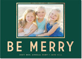 Dabney Lee Holiday Photo Mount Cards - Be Merry Foil