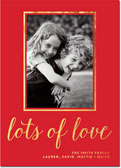 Dabney Lee Holiday Photo Mount Cards - Lots of Love Foil