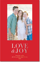 Dabney Lee Holiday Photo Mount Cards - Love & Joy Foil