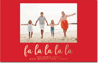 Dabney Lee Holiday Photo Mount Cards - Fa La La La Foil