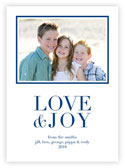 Letterpress Holiday Photo Mount Cards by Dabney Lee (Love & Joy)