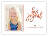 Letterpress Holiday Photo Mount Cards by Dabney Lee (Be Joyful)