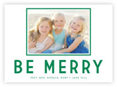 Letterpress Holiday Photo Mount Cards by Dabney Lee (Be Merry)