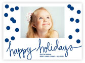 Letterpress Holiday Photo Mount Cards by Dabney Lee (Holepunch Holidays)