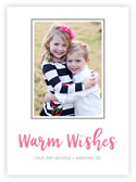 Letterpress Holiday Photo Mount Cards by Dabney Lee (Warm Wishes)