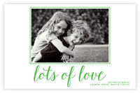 Letterpress Holiday Photo Mount Cards by Dabney Lee (Lots of Love)