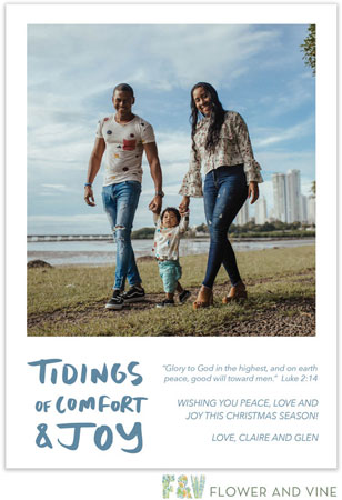 Flower & Vine - Digital Holiday Photo Cards (Comfort and Joy)