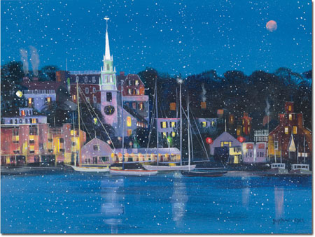 Good Cause Greetings - Moonlit Harbor
