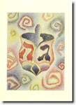 Indelible Ink Chanukah Card - Dreidel