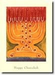 Indelible Ink Chanukah Card - Eight Lights Plus One
