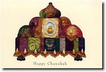 Indelible Ink Chanukah Card - The Mosaic Menorah