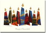 Indelible Ink Chanukah Card - Eight Lights for Eight Nights