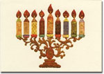 Indelible Ink Chanukah Card - Mosaic Menorah II