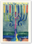Indelible Ink Chanukah Card - Chanukah Lights