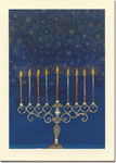 Indelible Ink Chanukah Card - The Celestial Menorah