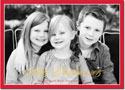 Boatman Geller Digital Holiday Photo Card - Christmas Border Red with Foil