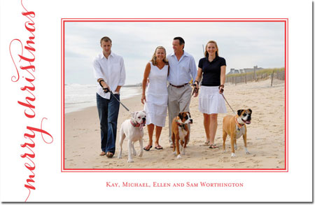 Boatman Geller - Letterpress Holiday Photo Mount Card (Carolyna Christmas)
