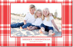 Boatman Geller - Letterpress Holiday Photo Mount Card (Tartan Plaid)
