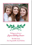 Boatman Geller - Letterpress Holiday Photo Mount Card (Holly Swag)