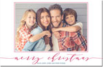 Boatman Geller - Letterpress Holiday Photo Mount Card (Dashing - Merry Christmas)