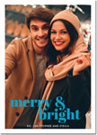 Digital Holiday Photo Cards by Boatman Geller - Poster Merry & Bright V
