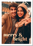 Digital Holiday Photo Cards by Boatman Geller - Poster Merry & Bright Foil V