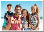 Digital Holiday Photo Cards by Boatman Geller - Poster Merry & Bright Foil H