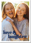Digital Holiday Photo Cards by Boatman Geller - Poster Love & Laughter V