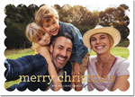 Digital Holiday Photo Cards by Boatman Geller - Scallop  Merry Christmas Foil