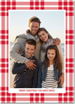 Digital Holiday Photo Cards by Boatman Geller - Scott Plaid Red