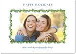 Digital Holiday Photo Cards by Boatman Geller - Green Swag with Navy Berries