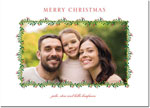 Digital Holiday Photo Cards by Boatman Geller - Green Swag with Red Berries