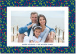 Digital Holiday Photo Cards by Boatman Geller - Berry Pattern Navy